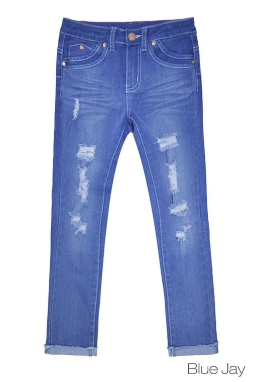 Tween Blue Jay Distressed Jeans