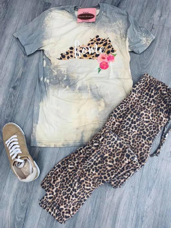 Cheetah Kentucky Bleached Short Sleeve Tee