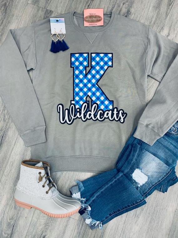 Gingham K Wildcats Sweatshirt