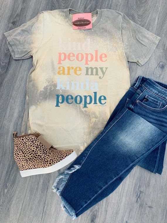 Kind People Bleached Short Sleeve Tee