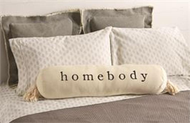 Mud Pie Homebody Bolster Pillow