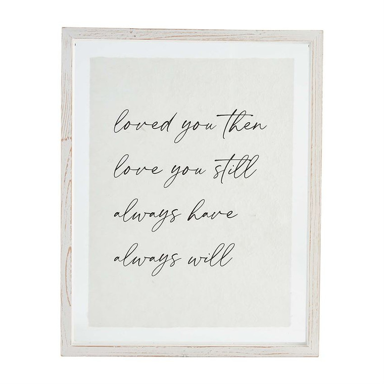 Mud Pie Loved You Then Glass Plaque