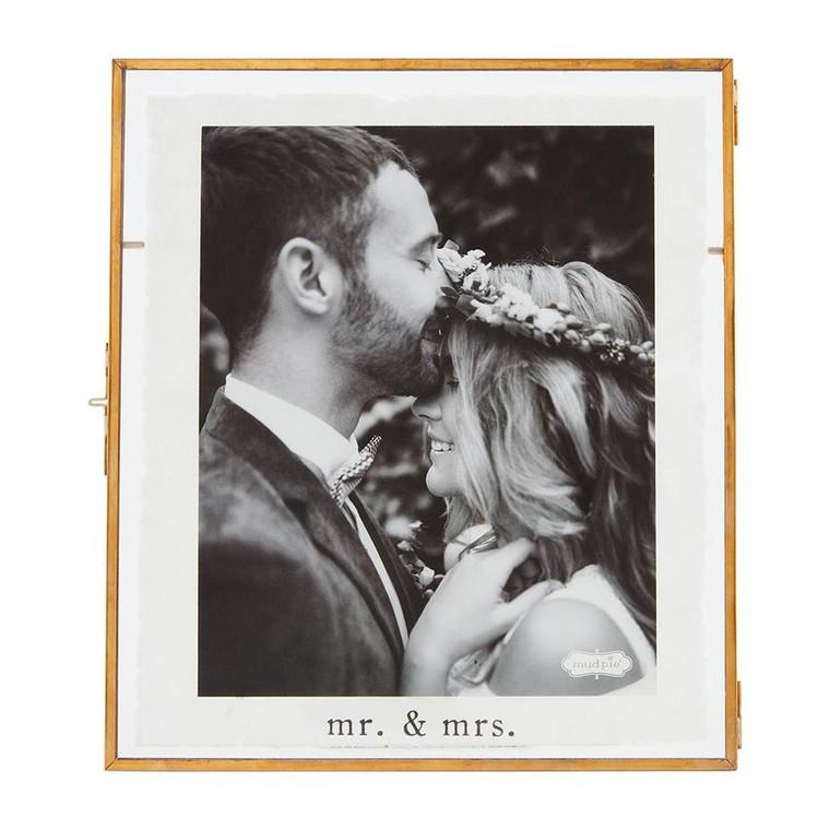 Mud Pie Mr & Mrs Glass Frame Large