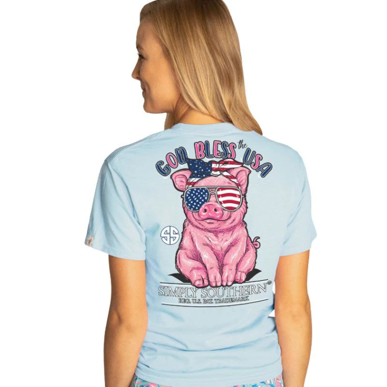 Simply Southern US Pig Tee Ice