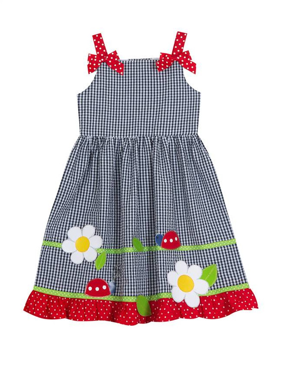 Ladybug Seersucker Dress