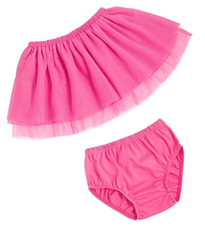Mud Pie Pink Mesh Skirt & Bloomers
