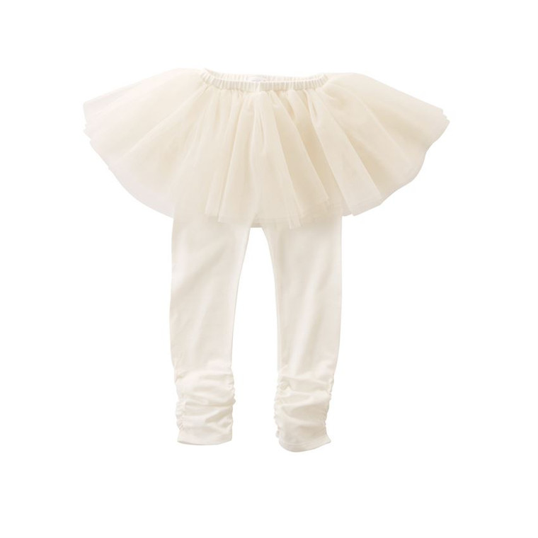 Mud Pie Tutu Leggings - IVORY