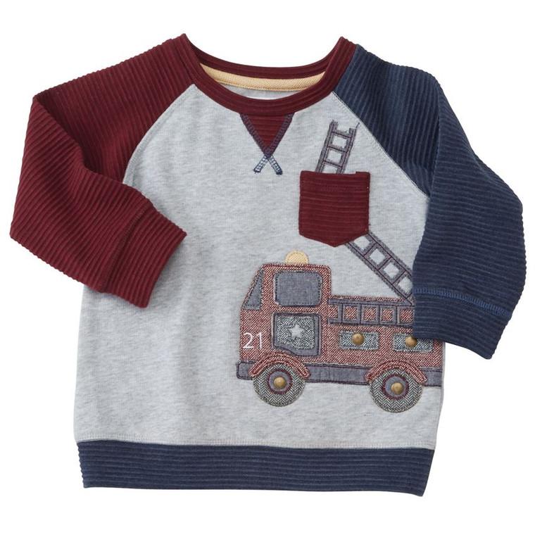 Mud Pie Fire Truck Sweatshirt