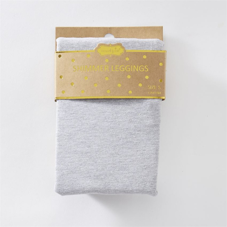 Mud Pie Shimmer Jersey Legging - GREY