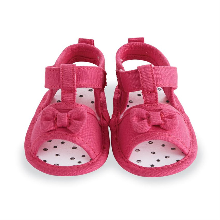 Mud Pie Pink Pre-Walker Sandals
