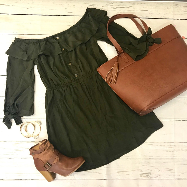 Wait For The One Dress - OLIVE