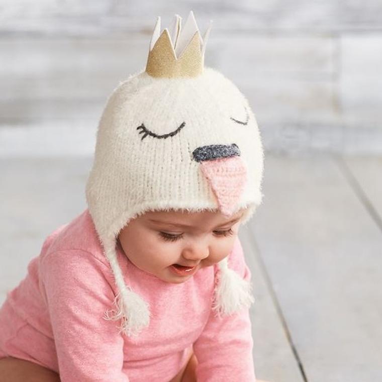 Mud Pie Swan Knit Hat