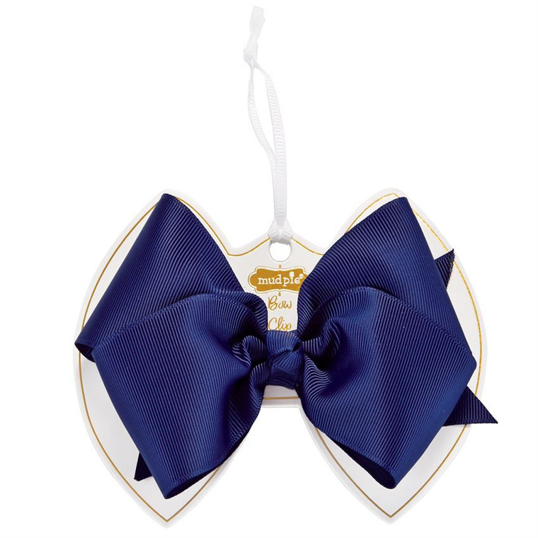 Mud Pie Ink Blue Bow Clip