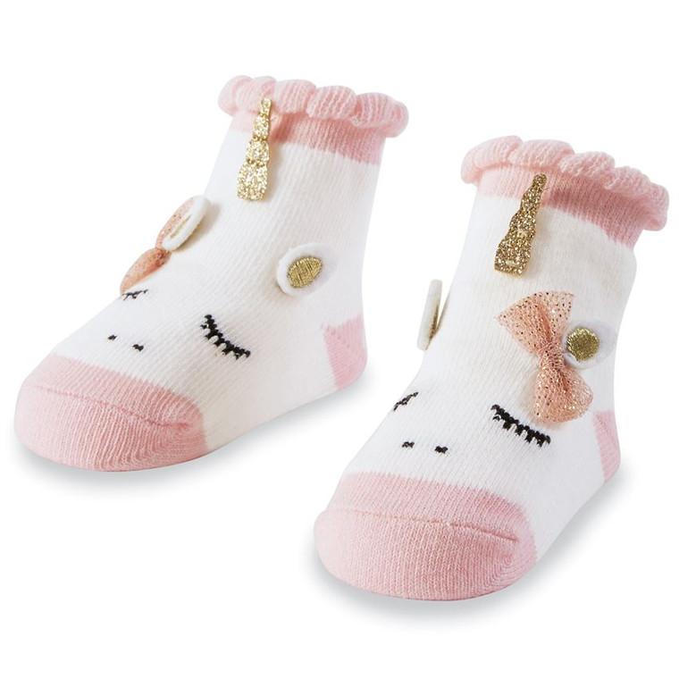 Mud Pie Pink Unicorn Socks