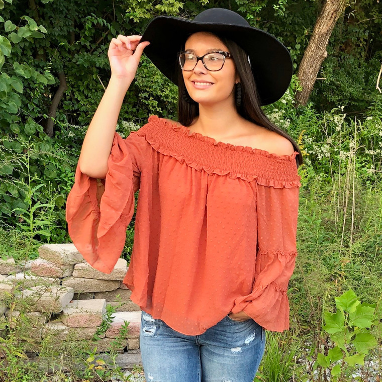 Endless Possibilities Blouse - RUST