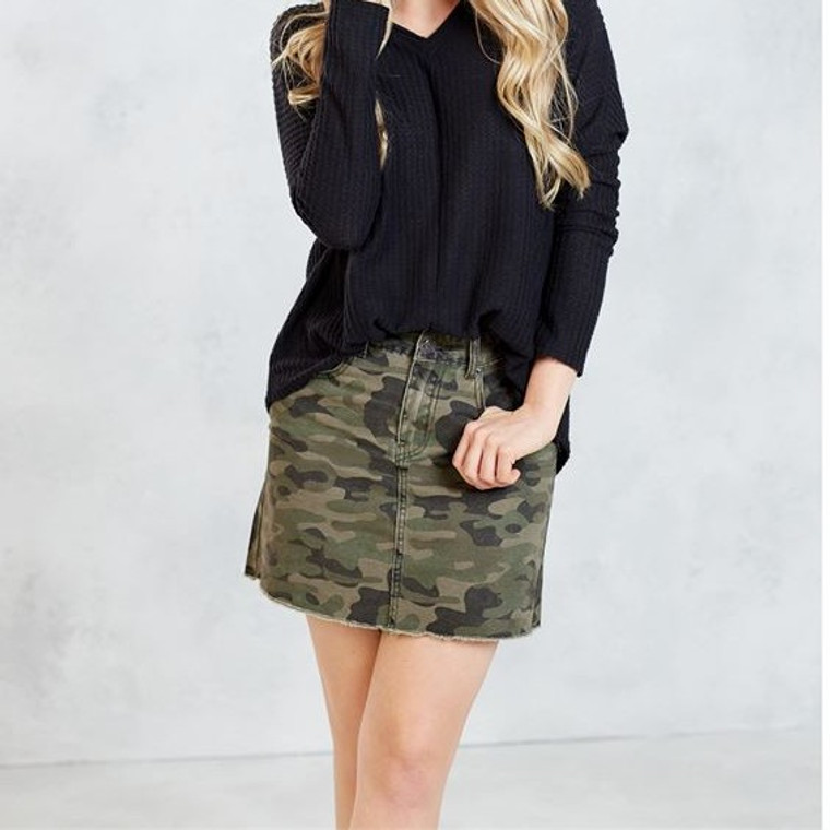Mud Pie Stevie Green Camo Skirt