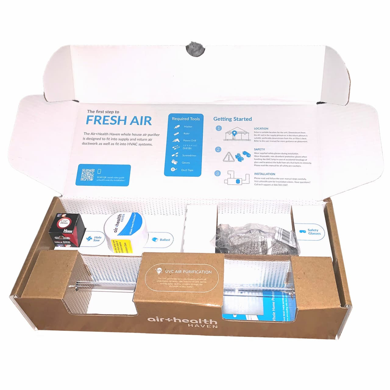 In Duct Air Purifier Packaging