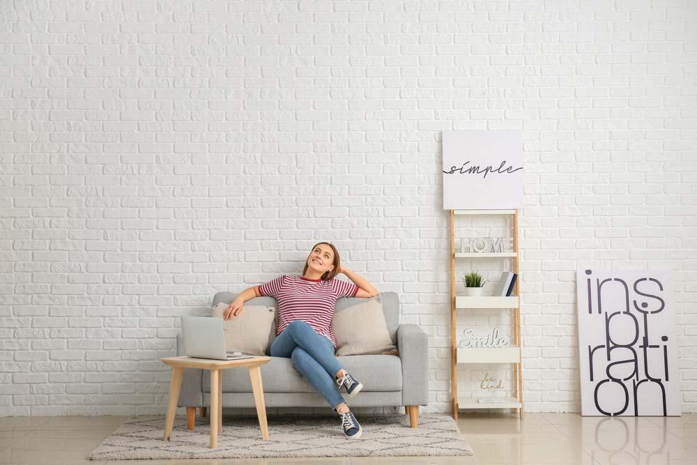 Girl sitting in fresh air