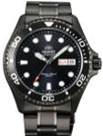 Scratch and Dent - Orient Ray Raven II Black PVD Automatic Dive Watch with Bracelet #AA02003B