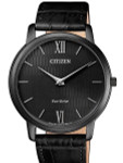 Citizen Ultra-Thin Stiletto Eco-Drive Dress Watch with Black Dial and Sapphire Crystal #AR1135-10E