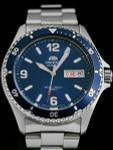 Orient Blue Dial Automatic Dive Watch with SS Bracelet #AA02002D