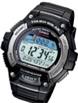 Casio Tough Solar-Light Powered Digital World Time Chronograph Alarm #W-S220-1AV