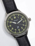 Messerschmitt Triple-X Fliegeruhr Watch with Black Leather Strap #ME-65AQ