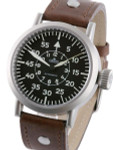 Aristo 3H58A Swiss Automatic Pilot's Watch w/Large Crown and a Sapphire Crystal