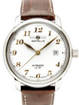 Graf Zeppelin Automatic, Date Watch with Gold Tone Applied Numbers #7656-1
