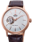Orient Open-Heart Automatic Dress Watch with White Dial #RA-AG0001S10A