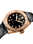 PHOIBOS Eagle Ray 500-Meter Swiss Automatic Dive Watch with Bronze Case, DD AR Sapphire Crystal #PY018C
