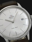 Orient V3 Automatic Dress Watch with White Dial, Applied Silver Hour Markers #ER2400MW