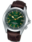 Seiko Green Dial Automatic Alpinist Field Watch with 38mm Case, and Sapphire Crystal  #SARB017