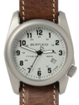 Bertucci A-2T Titanium Watch, 10-Year Lithium Battery, Horween Leather #12716