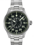 Laco 42mm Faro Type-B Dial Automatic Pilot Watch, Sapphire Crystal #861891