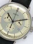 Aristo Bauhaus Swiss Quartz Chronograph Watch with 12-Hr Totalizer #4H177