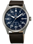Orient 21-Jewel Automatic Aviator Flight Watch with Brown Leather Strap #ER2A004D