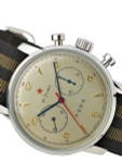 Seagull 1963 Hand Wind Mechanical Chronograph with Goldtone Dial #6488-2901C