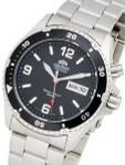 Orient Black Automatic Dive Watch on a Bracelet #CEM65001B