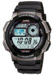 Casio Illuminator World Time Alarm Watch with 31 Time Zones #AE-1000W-1BV