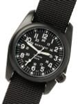 Bertucci A-2T Vintage Black Titanium Watch with Black Nylon Strap #12027