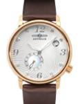 Graf Zeppelin Luna Swiss Quartz Watch with Swarovski Crystals and MOP Insert #7633-5