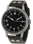 Laco Westerland 45MM Type A Dial Swiss Mechanical Pilot Watch with Sapphire Crystal #861750