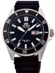 Orient Kanno Black Dial Automatic Dive Watch with Black Rubber Dive Strap #RA-AA0010B19A