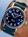 Brillier 43mm Airborne Automatic Watch with Horween Leather Strap #BR-01