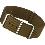NATO-Style Brown Nylon Strap with Stainless Steel Buckles  #NATO-10B-SS