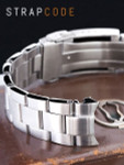 """Strapcode 20mm Super-O 3D """"Boyer"""" Stainless Steel Watch Bracelet for Seiko Alpinist SARB017, V-Clasp #SS201820B065"""