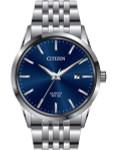 Citizen Quartz Dress Watch with Vibrant Blue Dial and SS Bracelet #BI5000-87L