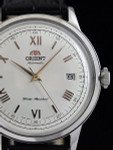 Orient 2nd-Gen Automatic Dress Watch with White Dial, Rose Goldtone Hands #AC00008W