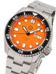 Islander Automatic Dive Watch with Solid-Link Bracelet, AR Sapphire Crystal, and Luminous Ceramic Bezel Insert #ISL-07